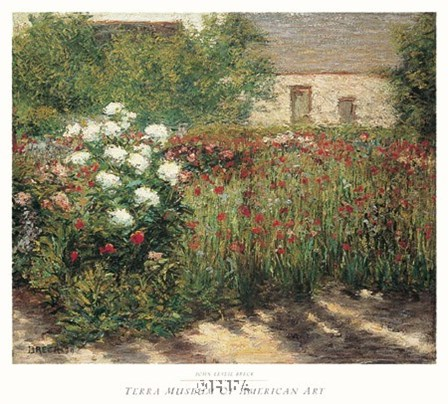 Garden at Giverny, c. 1890 by John Leslie Breck art print