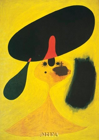 Portrait of a Young Girl by Joan Miro art print