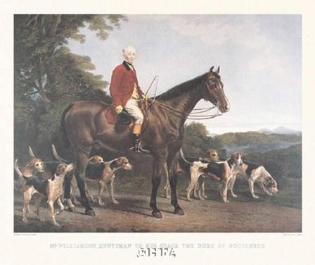 Mr. Williamson, Huntsman to His Grace by Robert Frain art print