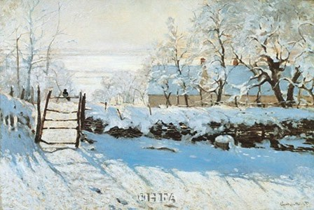 La Pie, Effet de Neige by Claude Monet art print