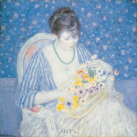Basket of Flowers by Frederick Carl Frieseke art print