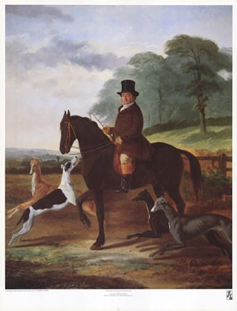 Huntsman with his Greyhounds by William Henry Knight art print