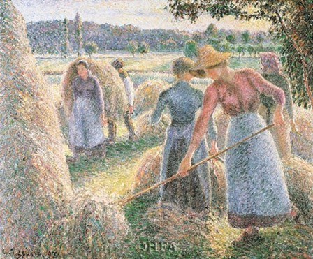 Haymakers, Evening, Eragny by Camille Pissarro art print