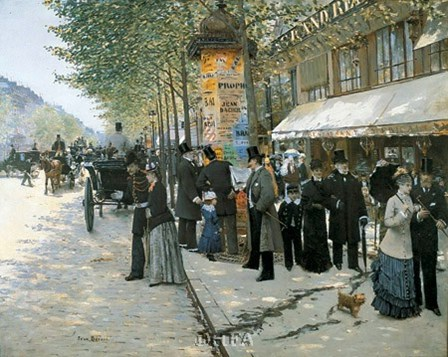 Paris on the Boulevard, 1890 by Jean Beraud art print