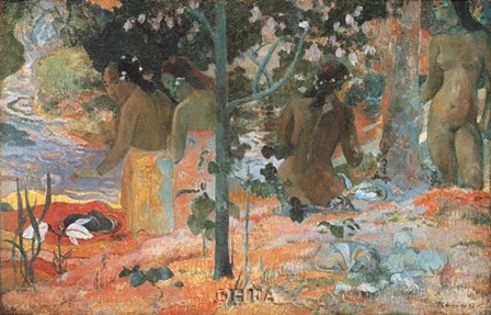 The Bathers, 1898 by Paul Gauguin art print