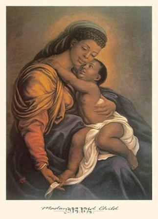 Madonna and Child by Tim Ashkar art print