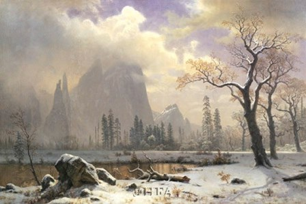 Yosemite Winter Scene by Albert Bierstadt art print