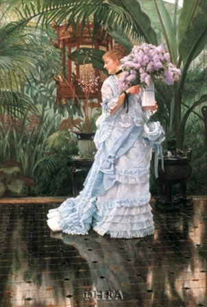 The Bunch of Lilacs by James Jacques Joseph Tissot art print