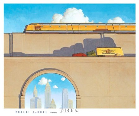 Traffic by Robert LaDuke art print