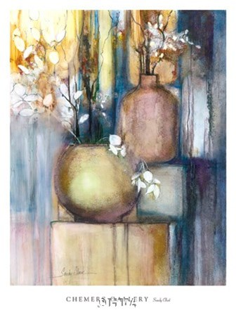Still Life with Two Vases by Sandy Clark art print