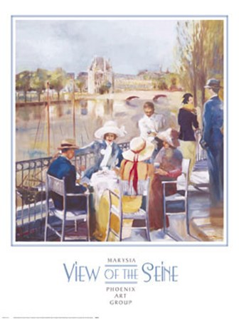 View of the Seine by Marysia art print