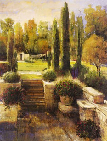 In the Cypress Garden by Stiles art print