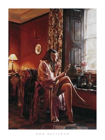 Femme avec Miroir by Rob Hefferan art print
