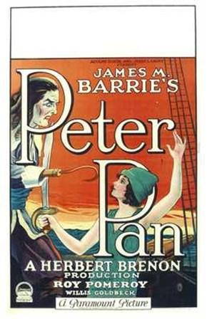 Peter Pan Book by James M. Barrie art print