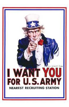I Want You for Us Army art print