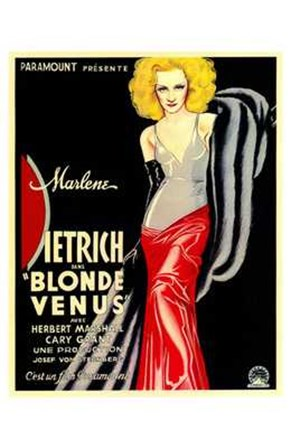 Blonde Venus - woman posed art print