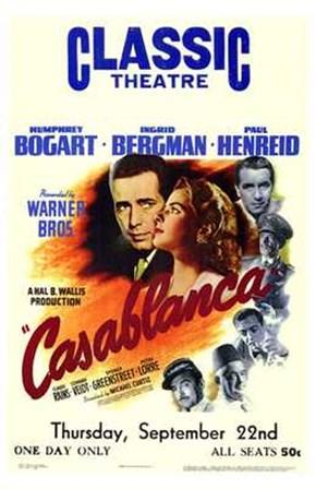 Casablanca Classic Theater art print
