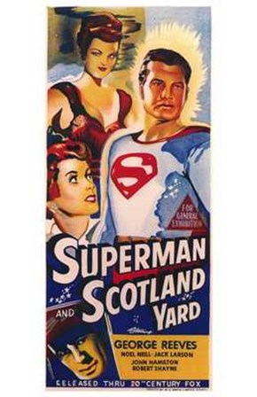Superman in Scotland Yard art print