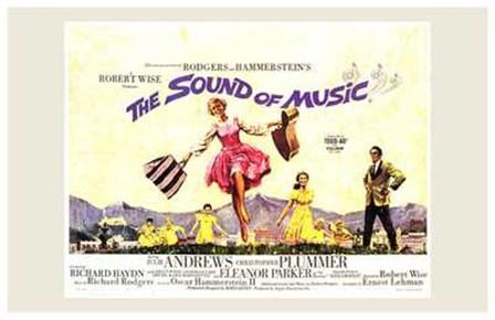 The Sound of Music Horizontal Musical art print