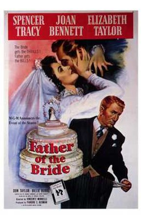 Father of the Bride Spencer Tracy art print