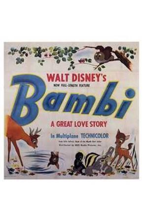 Bambi Square art print