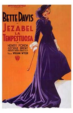 Jezebel - purple dress art print