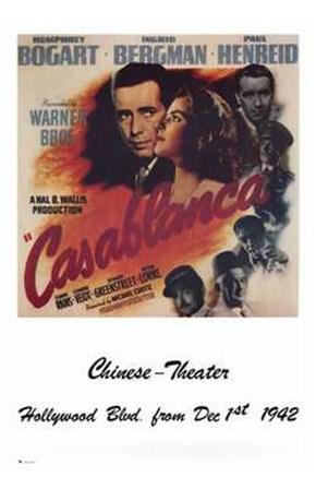 Casablanca Chinese Theater art print
