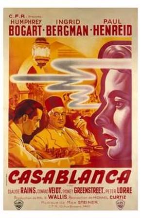Casablanca Warner Brothers art print