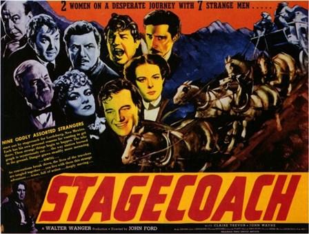 Stagecoach 2 Women 7 Strange Men art print