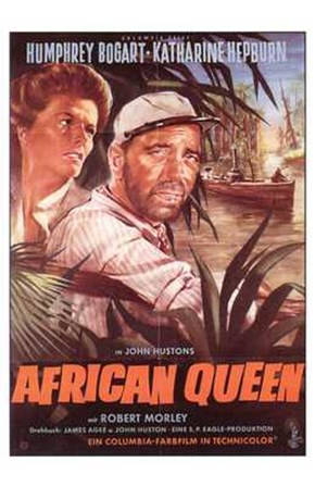 The African Queen Bogart & Hepburn art print