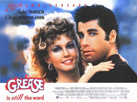 Grease Travolta & Newton-John art print
