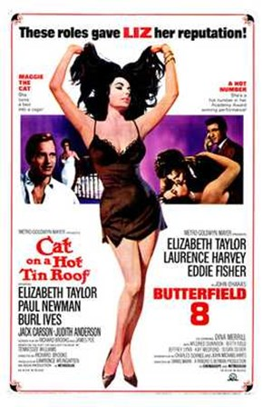 Cat on a Hot Tin Roof Elizabeth Taylor art print