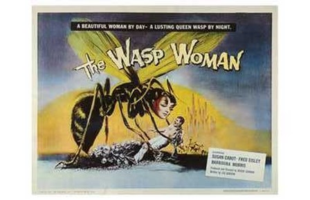 The Wasp Woman (movie poster) art print