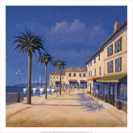 Seaside Promenade II by David Short art print