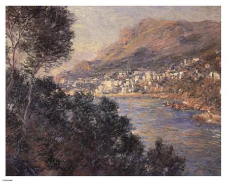 Monte Carlo Vue De Cap Martin by Claude Monet art print