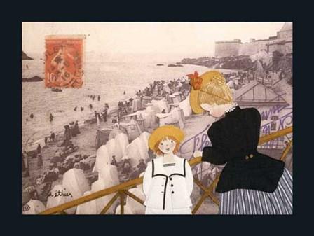 Jeanne, Sa Mere Et La Mer by Diane Ethier art print