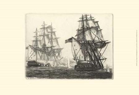Antique Ships III by Leonard H. Mersky art print