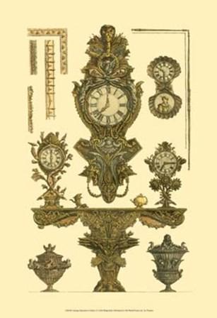 Antique Decorative Clock I by Francesco Piranesi art print