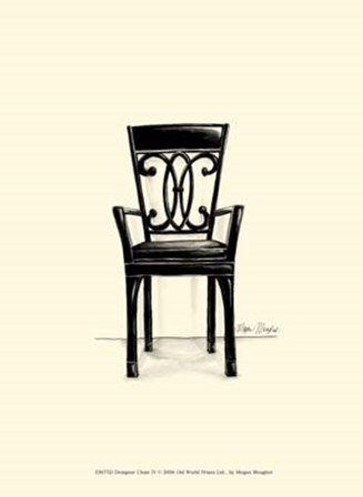 Designer Chair IV by Megan Meagher art print