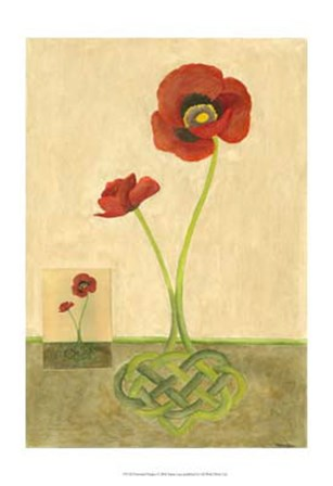 Entwined Poppies by Vanna Lam art print