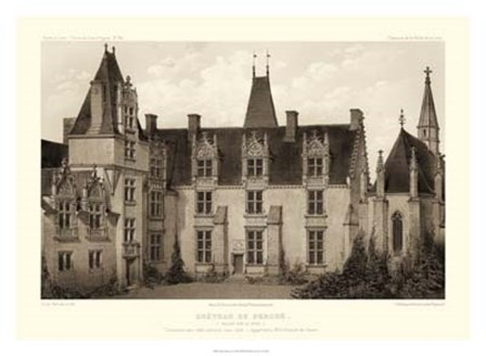 Sepia Chateaux I by Victor Petit art print