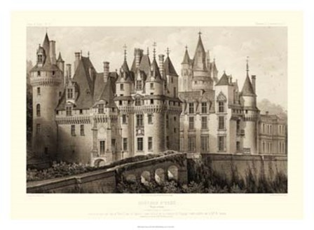 Sepia Chateaux II by Victor Petit art print