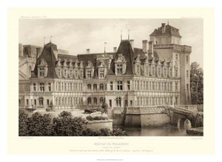 Sepia Chateaux IV by Victor Petit art print
