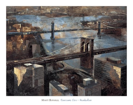 Panoramic View - Manhattan by Marti Bofarull art print