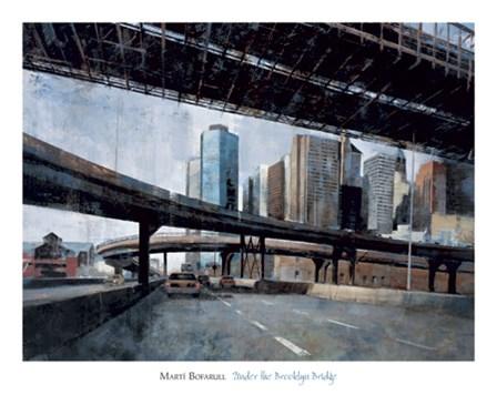 Under the Brooklyn Bridge by Marti Bofarull art print