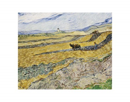 Enclosed Field with Ploughman by Vincent Van Gogh art print