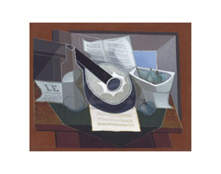 Still Life with a Guitar, 1925 by Juan Gris art print