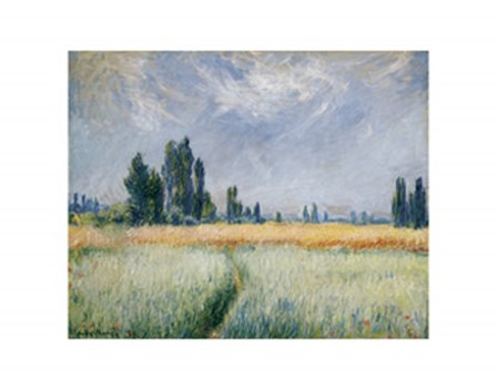 Wheatfield, 1881 by Claude Monet art print