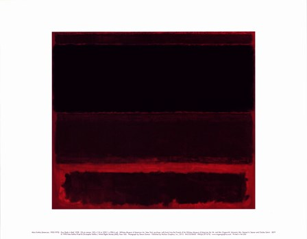Four Darks in Red, 1958 by Mark Rothko art print