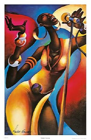 The Songstress by Maurice Evans art print